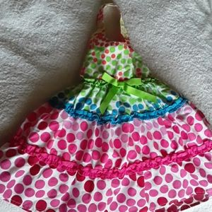 Blueberi Boulevard Girl's Polka Dot Party Dress 2T